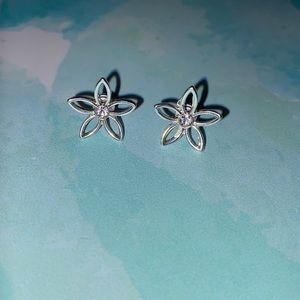 Silver Flower Earrings Lauren Conrad